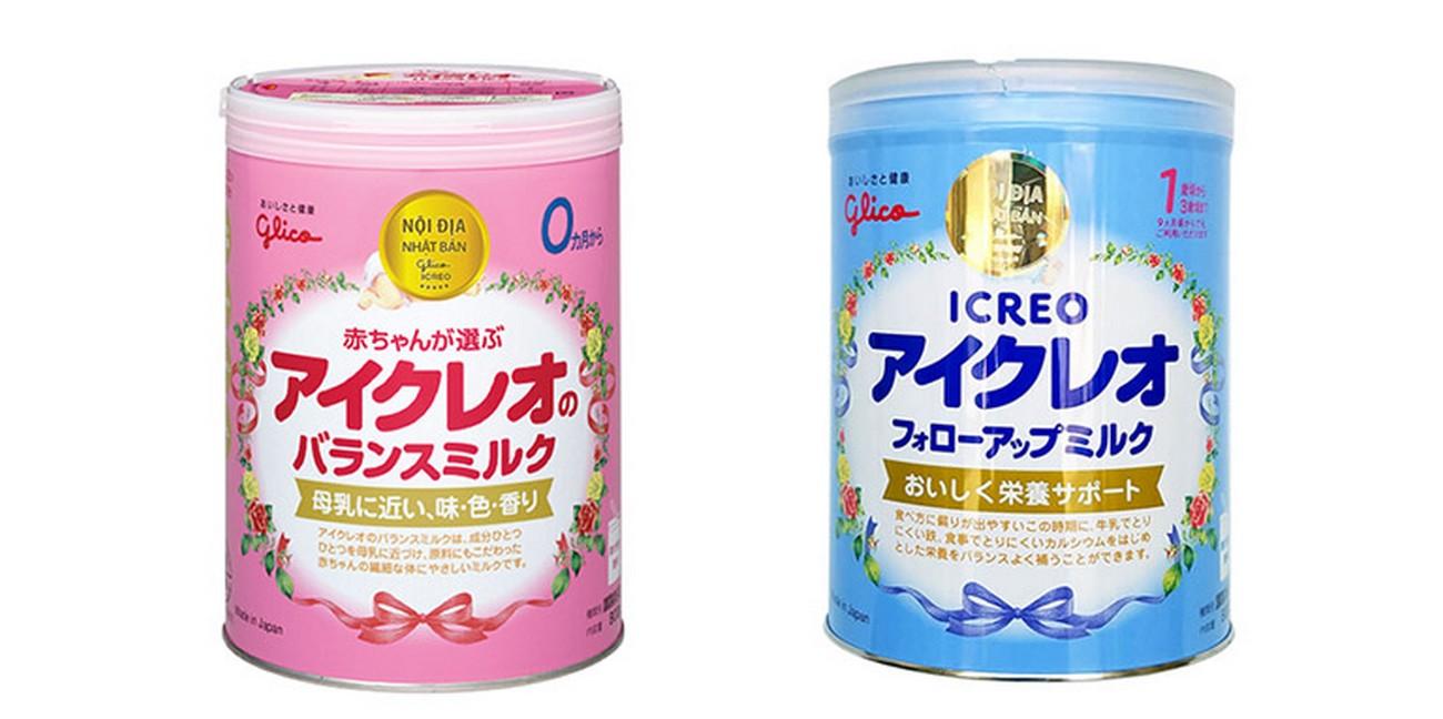 Sữa bột Glico có 2 loại là loại 0 dành cho trẻ 0-9 tháng và loại 1 dành cho trẻ từ 9 - 36 tháng